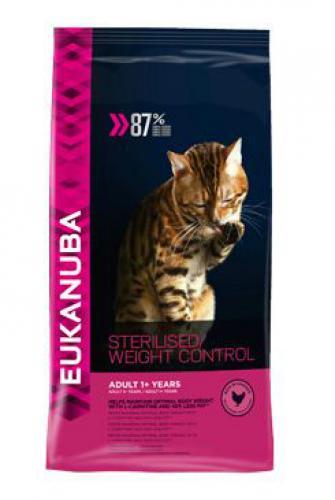 Eukanuba Cat Adult Sterilised/Weight Control kuøe bal.400g/3kg