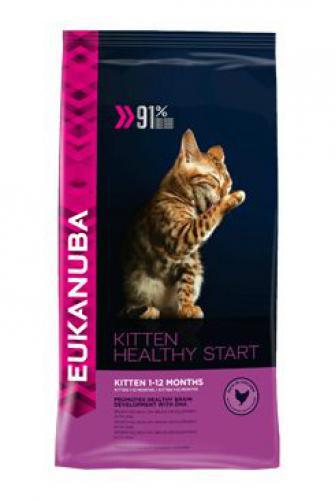 Eukanuba Cat Kitten Healthy Start Chicken bal.400g/4kg