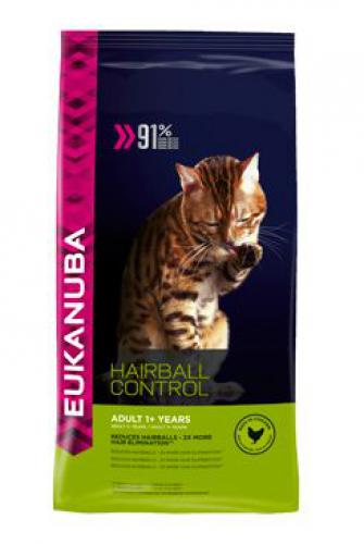 Eukanuba Cat Adult Hairball Control Chicken bal.400g/4kg