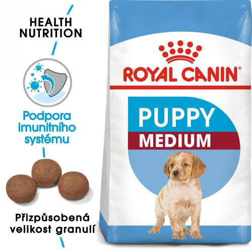 Royal Canin MEDIUM PUPPY bal.4kg/15kg