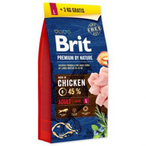 Brit Premium by Nature Adult L 15kg+3kg