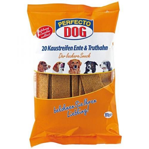 Perfecto Dog Masové plátky krùta + kachna (10ks/200g)