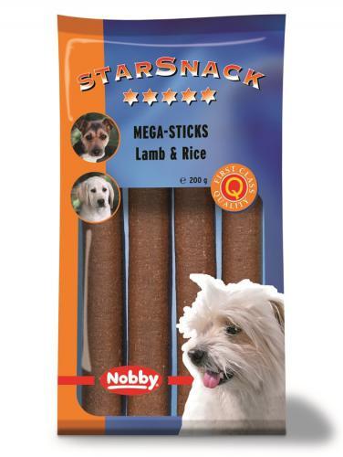 Nobby StarSnack Mega Sticks pamlsky tyèinky jehnìèí 200g