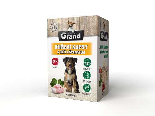 Grand deluxe Dog kuøecí, kapsièka 4 x 300 g