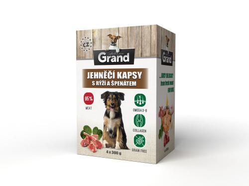 Grand deluxe Dog jehnìèí, kapsièka 4 x 300 g