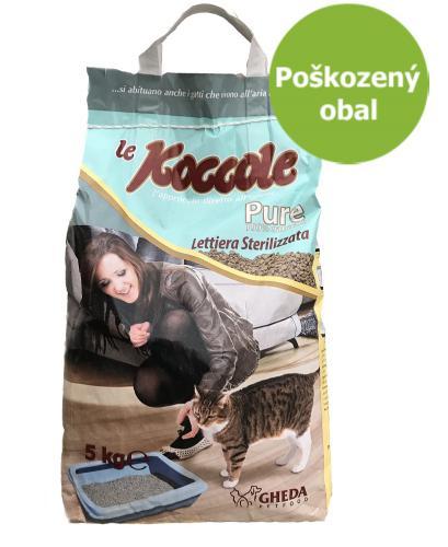 Le Koccole stelivo hrudkujicí 5 kg-Poškozeny obal - SLEVA 20%