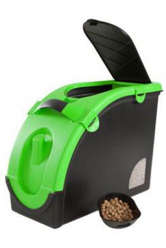 Zásobník na granule pro 13 kg krmiva èerno-zelený Mael