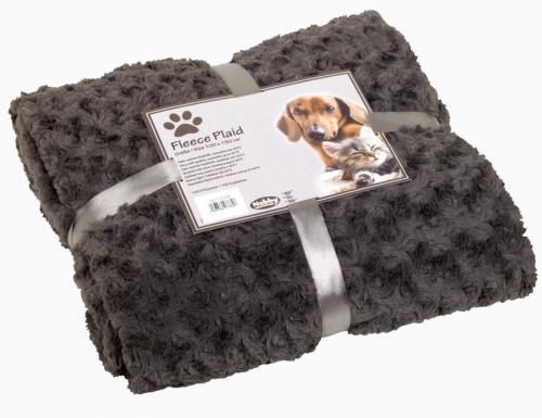 Nobby Super Soft fleecová deka šedá 150x200cm