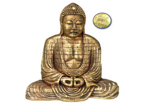 Nobby akvarijní dekorace zlatý Buddha 15,5 x 9,6 x 15,4 cm