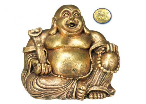 Nobby akvarijní dekorace zlatý Buddha 13,5 x 11 x 12 cm