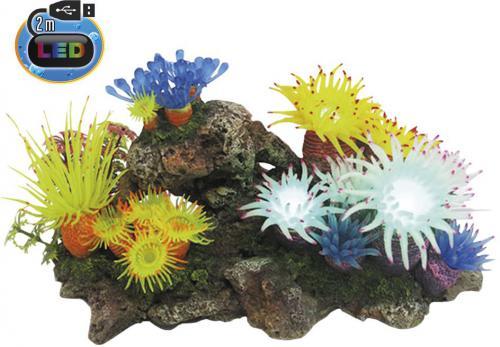 Nobby akvarijní dekorace Aplysina s LED 27,7 x 14,3 x 14 cm