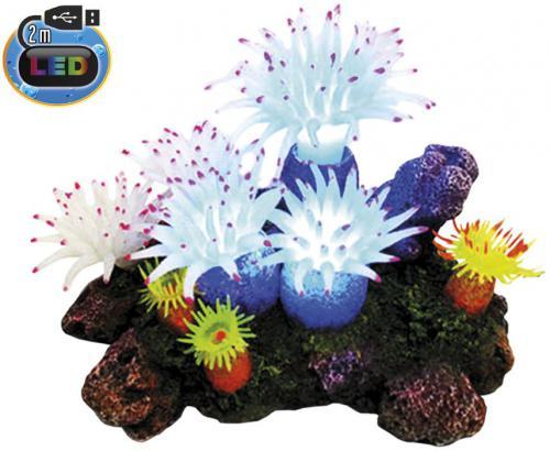 Nobby akvarijní dekorace Aplysina s LED 16,5 x 12 x 11 cm