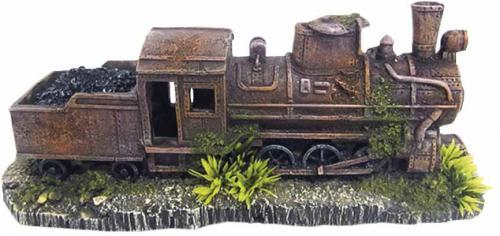 Nobby akvarijní dekorace zrezivìlá lokomotiva 25,7 x 8,5 x 10,5 cm