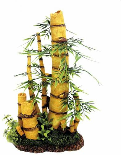 Nobby akvarijní dekorace bambus s rostlinou 20 x 11,8 x 33,7 cm