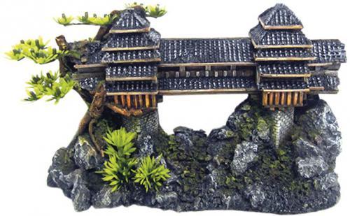 Nobby akvarijní dekorace asijský most 26,5 x 10,2 x 15,5 cm