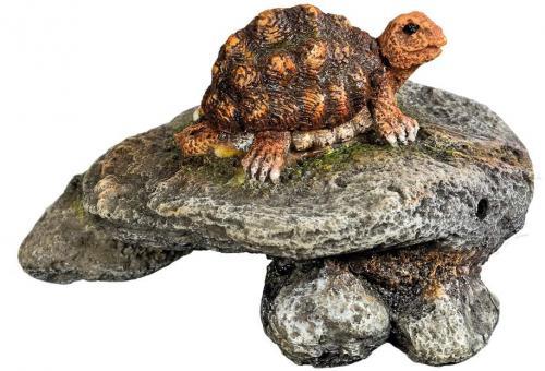Nobby akvarijní dekorace želva na skále 9,5 x 9,5 x 6 cm