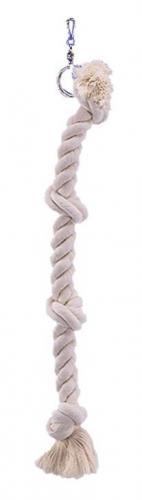 Nobby závìsné bavlnìné lano velké se 4 uzly 67cm
