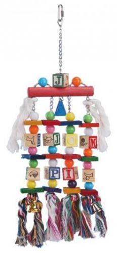 Nobby závìsná hraèka pro velké papoušky kostièky 50x15cm
