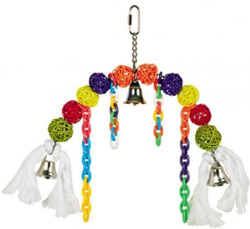Nobby závìsná hraèka pro papoušky proutìné kulièky 22x25cm