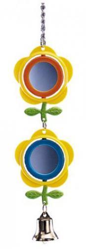 Nobby hraèka pro malé papoušky závìsná zrcátka se zvoneèek 28cm