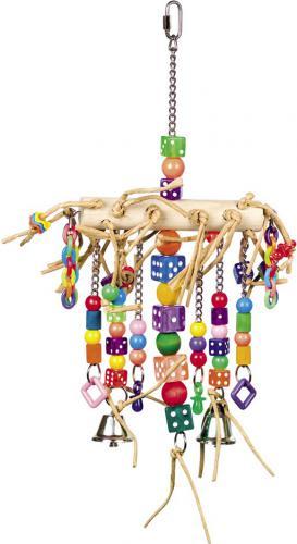 Nobby aktivní hraèka pro papoušky se zvoneèky 41 x 22 cm