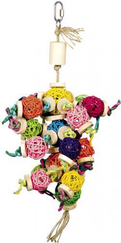 Nobby aktivní hraèka pro papoušky proutìné koule 37 x 18 cm