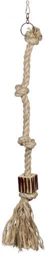 Nobby šplhací lano L bavlna, sisal 4x uzel 73 cm