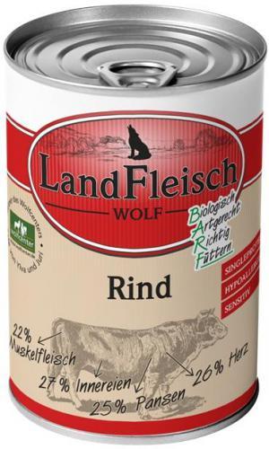 Landfleisch Dog Wolf 100% Hovìzí 400g