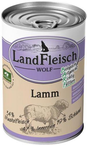 Landfleisch Dog Wolf Sensibel 100% Jehnìèí 400g
