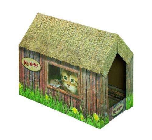 Nobby kartonový domeèek pro koèky 49x26x36cm