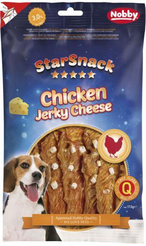 Nobby StarSnack Chicken Jerky Cheese pamlsky 113g
