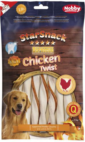 Nobby StarSnack BBQ Chicken Twist žvýkací tyèky M 12cm 113g