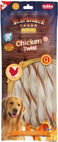Nobby StarSnack BBQ Chicken Twist žvýkací tyèky L 25cm 150g