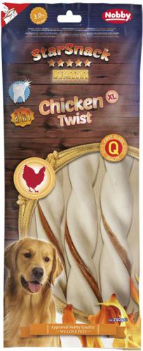 Nobby StarSnack BBQ Chicken Twist žvýkací tyèky XL 25cm 240g
