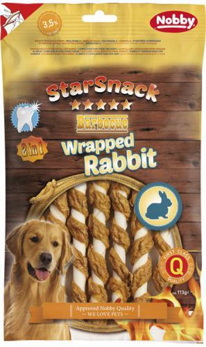 Nobby StarSnack BBQ Wrapped Rabbit pamlsky králík 113g