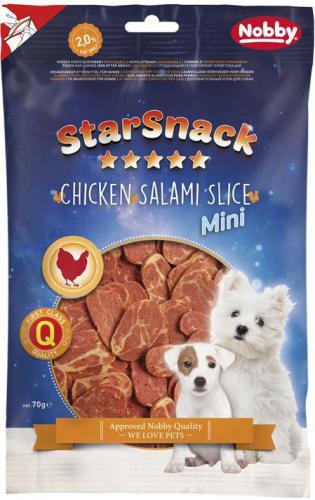 Nobby StarSnack Chicken Salami Slice pamlsek pro psy 70g