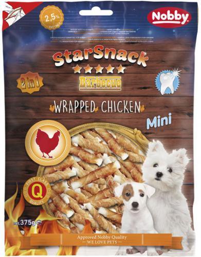 Nobby StarSnack Wrapped Mini buvolí tyèky s kuøecím 375g