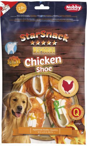 Nobby StarSnack BBQ Chicken Shoe pamlsky 7,5 cm 60g