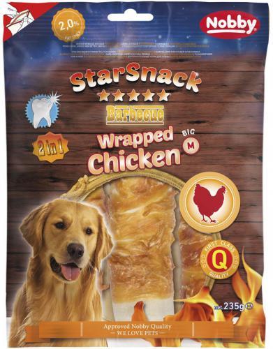Nobby StarSnack BBQ Wrapped Chicken M pamlsky 15cm 235g