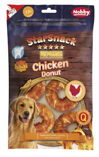 Nobby StarSnack BBQ Chicken Donut pamlsky 5cm 110g