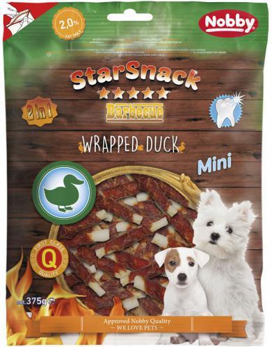 Nobby StarSnack Wrapped Duck MINI pamlsky pro psy 375g