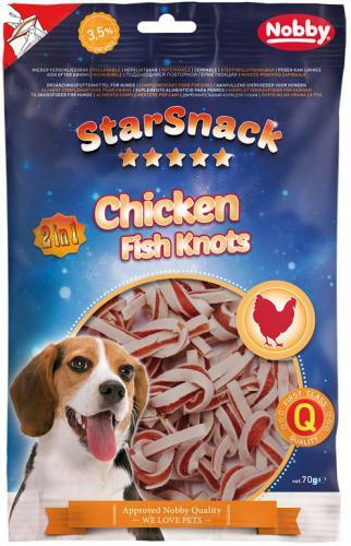 Nobby StarSnack Chicken Fish Knots pamlsky 70g