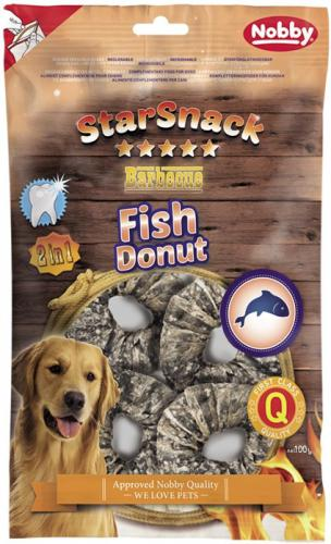 Nobby StarSnack BBQ Fish Donut pamlsky pro psy 100 g/4 ks