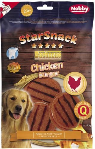 Nobby StarSnack BBQ Chicken Burger pamlsky pro psy 113 g