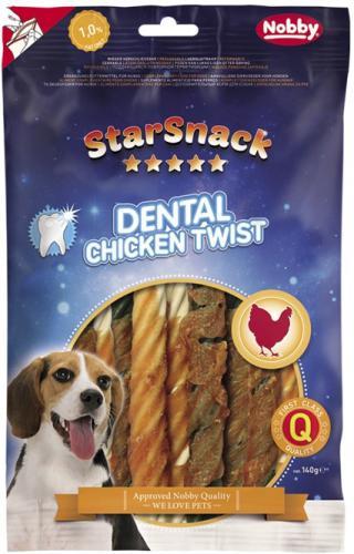 Nobby StarSnack Dental Chicken Twist dentální kuøecí spirály 12,5cm / 140g