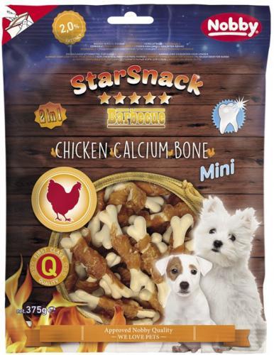 Nobby StarSnack BBQ Mini kalciová kostièka s kuøetem 7cm / 375g