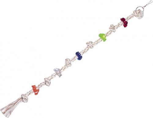 Nobby hraèka pro papoušky lano s akrylátovými kroužky 106cm