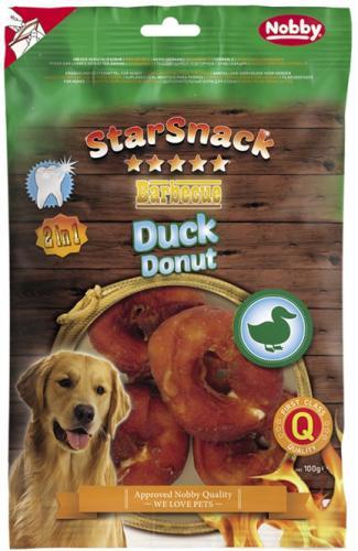 Nobby StarSnack BBQ Duck Donut pamlsky pro psy 100 g/4 ks