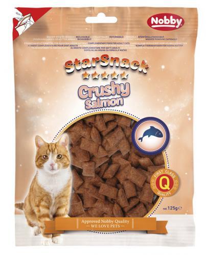 Nobby StarSnack Cat Crushy Salmon køupavé polštáøky s lososem 125g