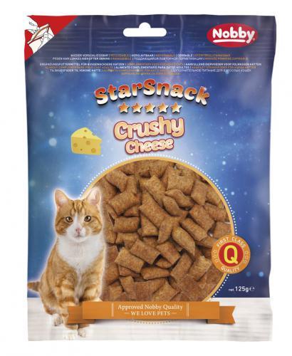 Nobby StarSnack Cat Crushy Cheese køupavé polštáøky se sýrem 125g